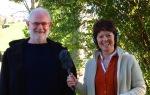 William Methven being interviewed by Helen Mark for BBC Radio Ulster at Druim Ceit, Limavady
