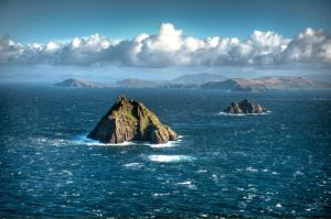 Skellig Michael, Kerry. Home to Coptic monks in the 6 - 8th centuries.