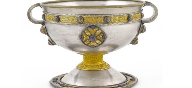 The Ardagh Chalice. 8th C. National Museum, Ireland