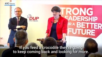 Arlene Foster 'Crocodile' speech 2017