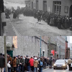 Dublin food queues 1923 & 2017