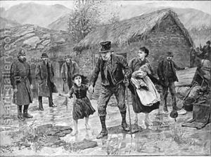 Eviction during Irish genocide (famine) 1840s