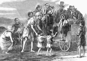 Children during Irish genocide